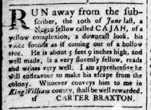 Sep 1 - Virginia Gazette Rind Slavery 7