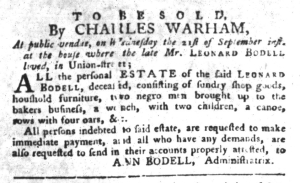 Sep 13 - South-Carolina Gazette and Country Journal Slavery 3