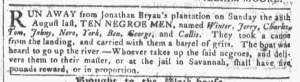 Sep 14 - Georgia Gazette Slavery 8