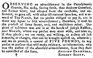 Sep 15 - 9:15:1768 Pennsylvania Gazette Supplement