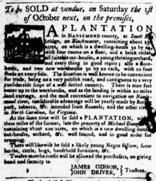 Sep 15 - Virginia Gazette Purdie and Dixon Slavery 12