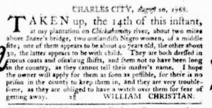 Sep 15 - Virginia Gazette Purdie and Dixon Slavery 8
