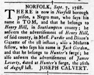 Sep 15 - Virginia Gazette Rind Slavery 3