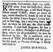 Sep 15 - Virginia Gazette Rind Slavery 4