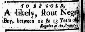 Sep 16 - New-London Gazette Slavery 1