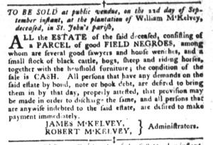 Sep 20 - South-Carolina Gazette and Country Journal Slavery 3