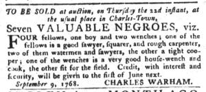 Sep 20 - South-Carolina Gazette and Country Journal Slavery 5