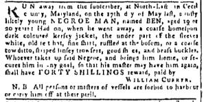 Sep 22 - Pennsylvania Gazette Postscript Slavery 1