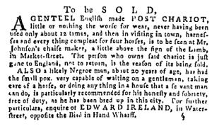 Sep 22 - Pennsylvania Gazette Supplement Slavery 1