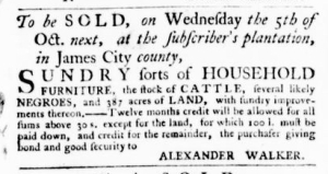 Sep 22 - Virginia Gazette Purdie and Dixon Slavery 4