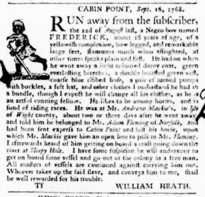 Sep 22 - Virginia Gazette Purdie and Dixon Slavery 5