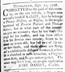 Sep 22 - Virginia Gazette Rind Slavery 2