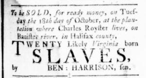 Sep 22 - Virginia Gazette Rind Slavery 4