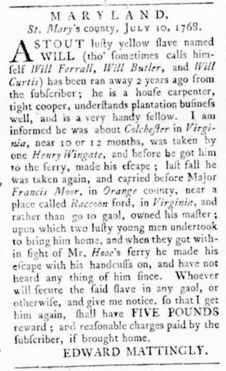 Sep 22 - Virginia Gazette Rind Slavery 6