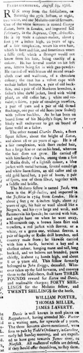 Sep 22 - Virginia Gazette Rind Slavery 9