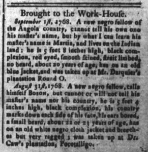 Sep 23 - South-Carolina and American General Gazette Slavery 1