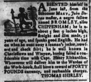 Sep 23 - South-Carolina and American General Gazette Slavery 2
