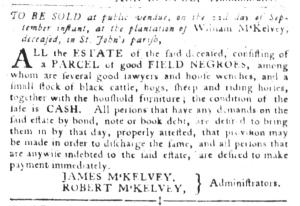 Sep 6 - South-Carolina Gazette and Country Journal Slavery 3