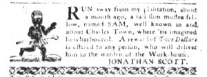 Sep 6 - South-Carolina Gazette and Country Journal Slavery 4