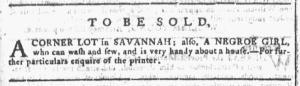 Sep 7 - Georgia Gazette Slavery 2