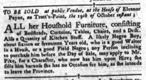 Oct 11 - South-Carolina Gazette and Country Journal Slavery 3