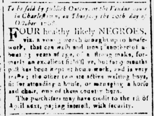 Oct 14 - South-Carolina and American General Gazette Slavery 3