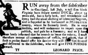 Oct 6 - Virginia Gazette Purdie and Dixon Slavery 10