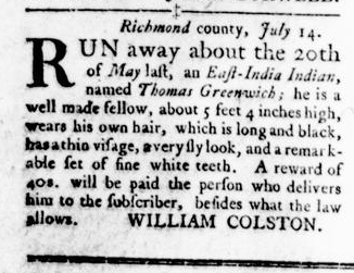 Oct 6 - Virginia Gazette Rind Slavery 12