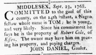 Oct 6 - Virginia Gazette Rind Slavery 8