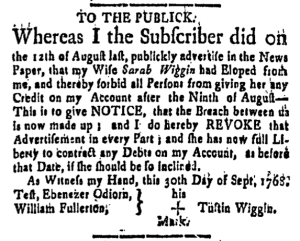Oct 7 - 10:7:1768 New-Hampshire Gazette