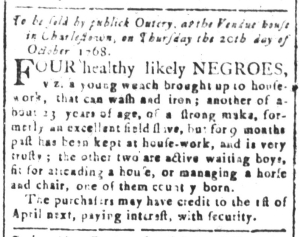 Oct 7 - South-Carolina and American General Gazette Slavery 1
